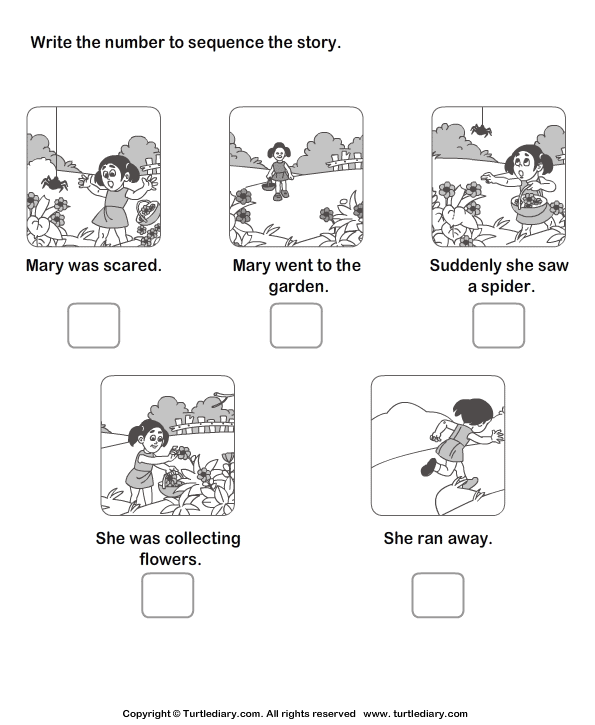Download and print Turtle Diary's Story Sequencing Mary