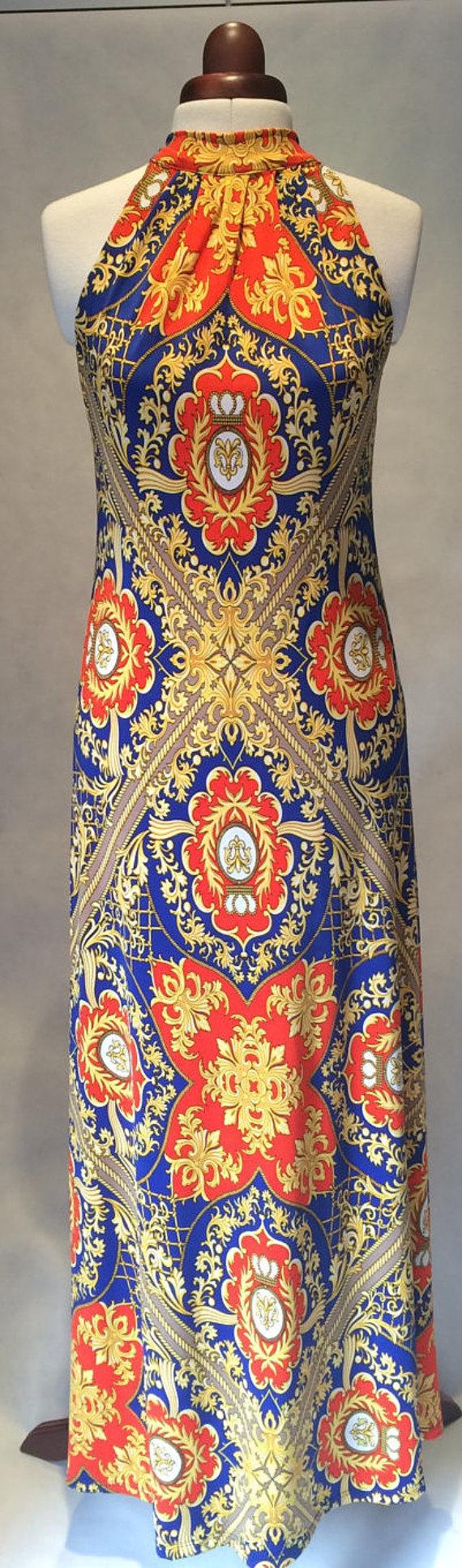 Summer dress maxi dress sleeveless dress long dress by valdenize
