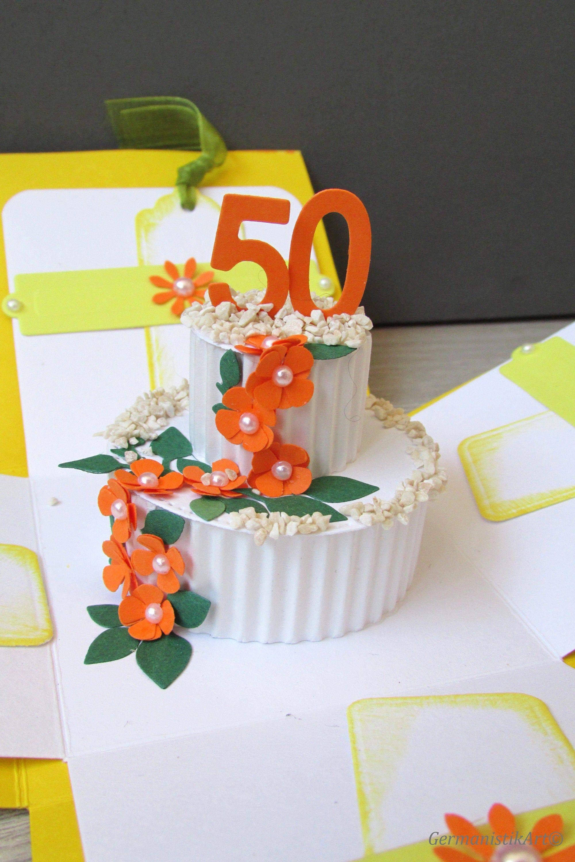 3D Birthday Card, 50th Anniversary Card, Mom birthday