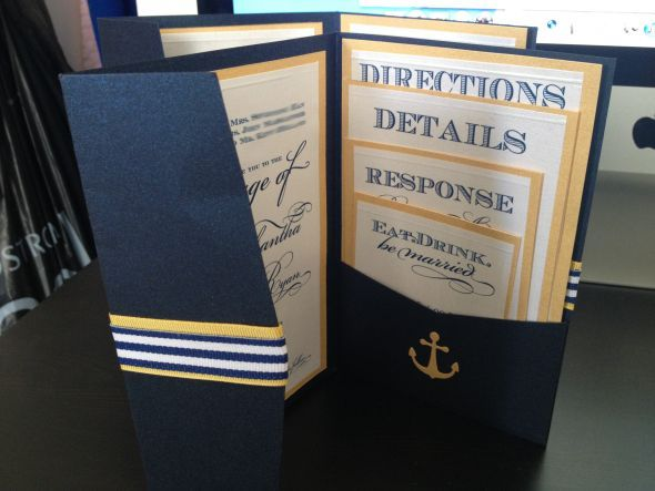 DIY Nautical Invitations and Wedding programs wedding nautical