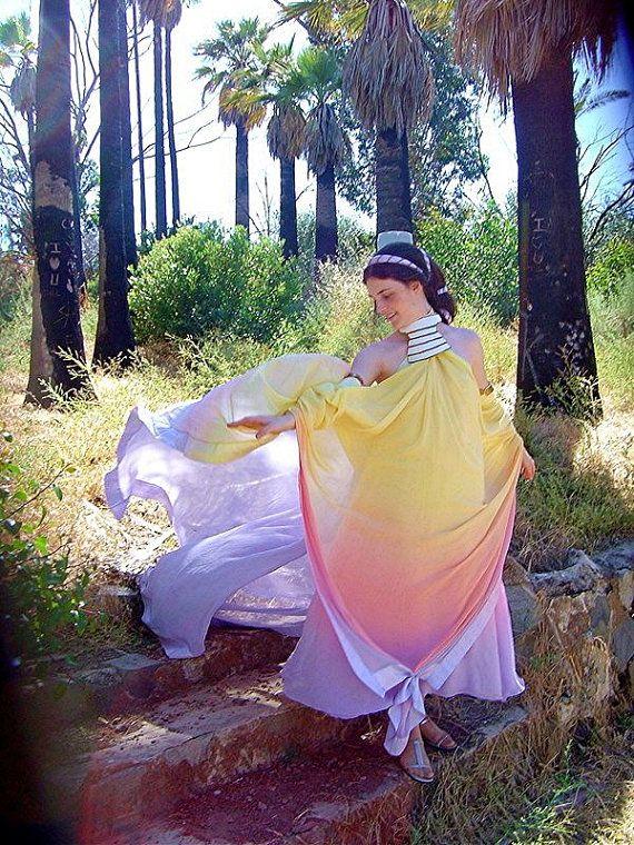 Padme Amidala Rainbow Pastel Lake Dress Gown Silk by tavariel ... eb00b32d7