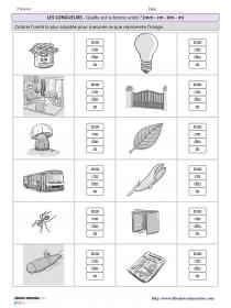 10 fiches simples pour s'entraîner à estimer une longueur ...