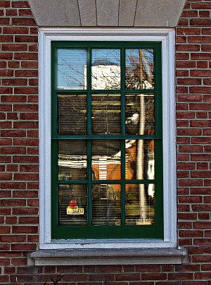 Thick Brick Mold Around Window Looks Great Old House