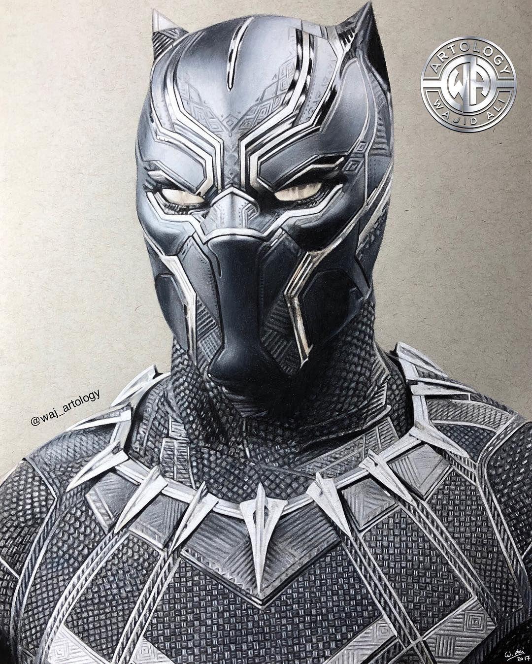 Black panther repost blackpanther drawing wakanda marvel kingofwakanda pencildrawing chadwickboseman artology waj artology