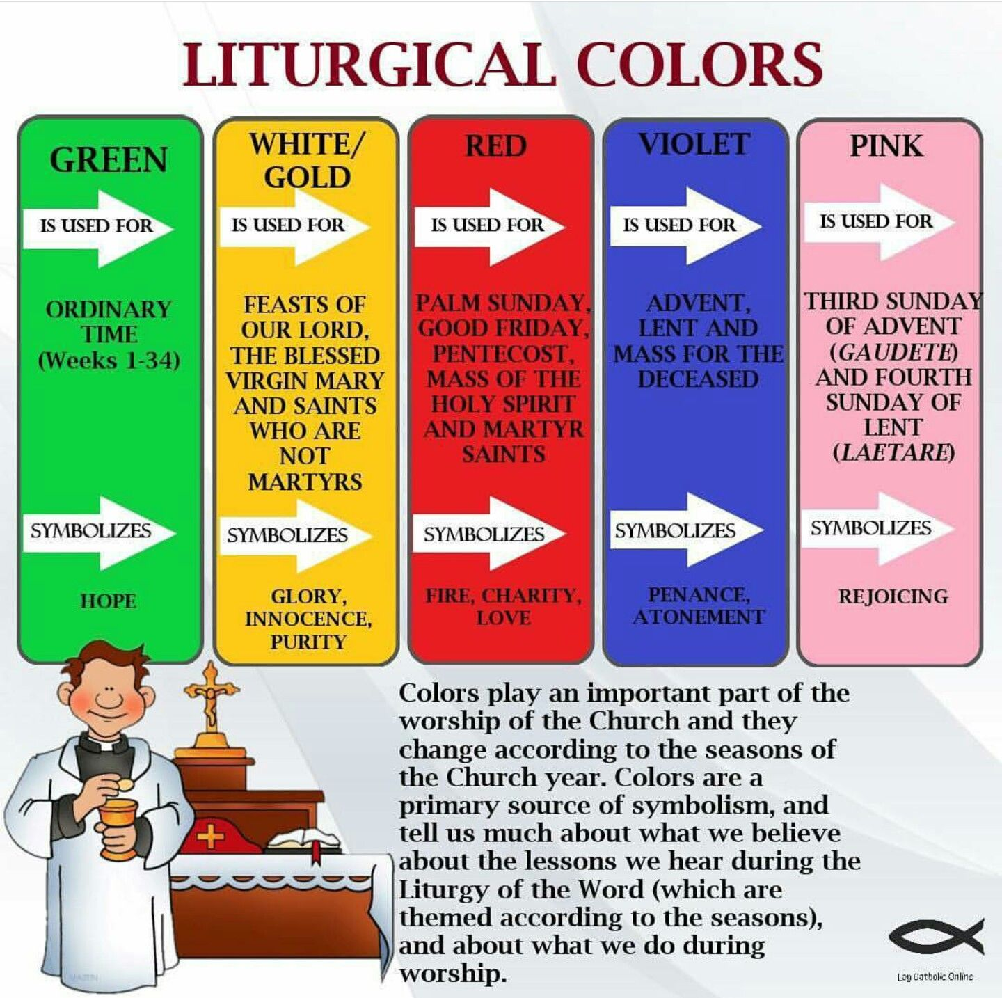 Liturgical Colors With Images