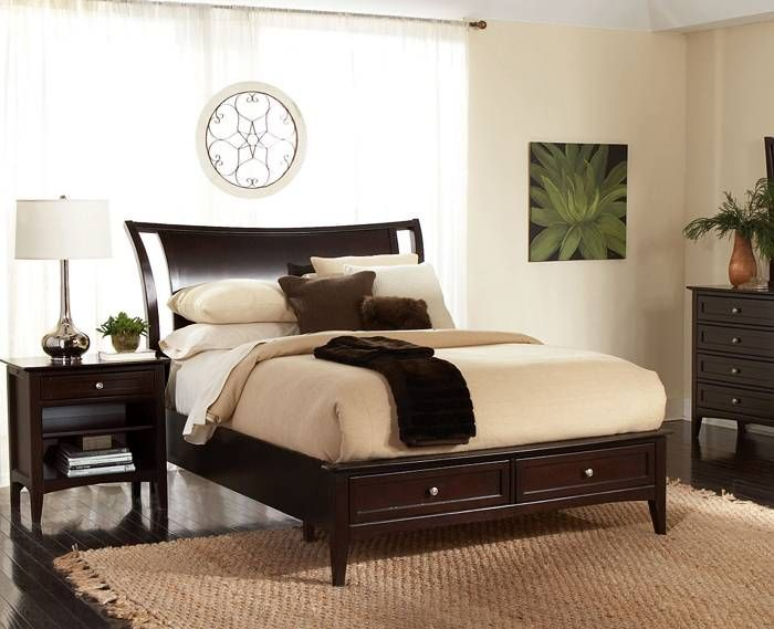Kensington Sleigh Bed W Storage Queen Kt 65664 King Bedroom Sets Furniture Bedroom
