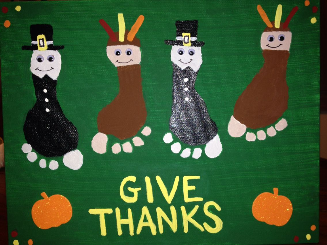 Indian Pilgrim Footprints Footprint Crafts Thanksgiving