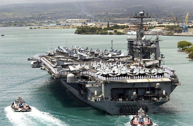Nimitz class USS John C Stennis (CVN-74) at Pearl Harbor, HI