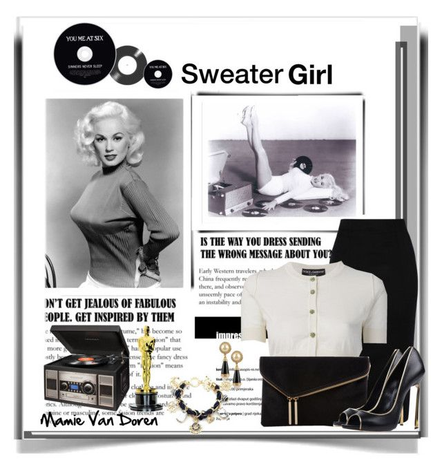 """""""Sweater Girl"""" by emcf3548 ❤ liked on Polyvore featuring Olympia Le-Tan, Dolce&Gabbana, Henri Bendel, Casadei, Thos. Baker, women's clothing, women's fashion, women, female and woman"""