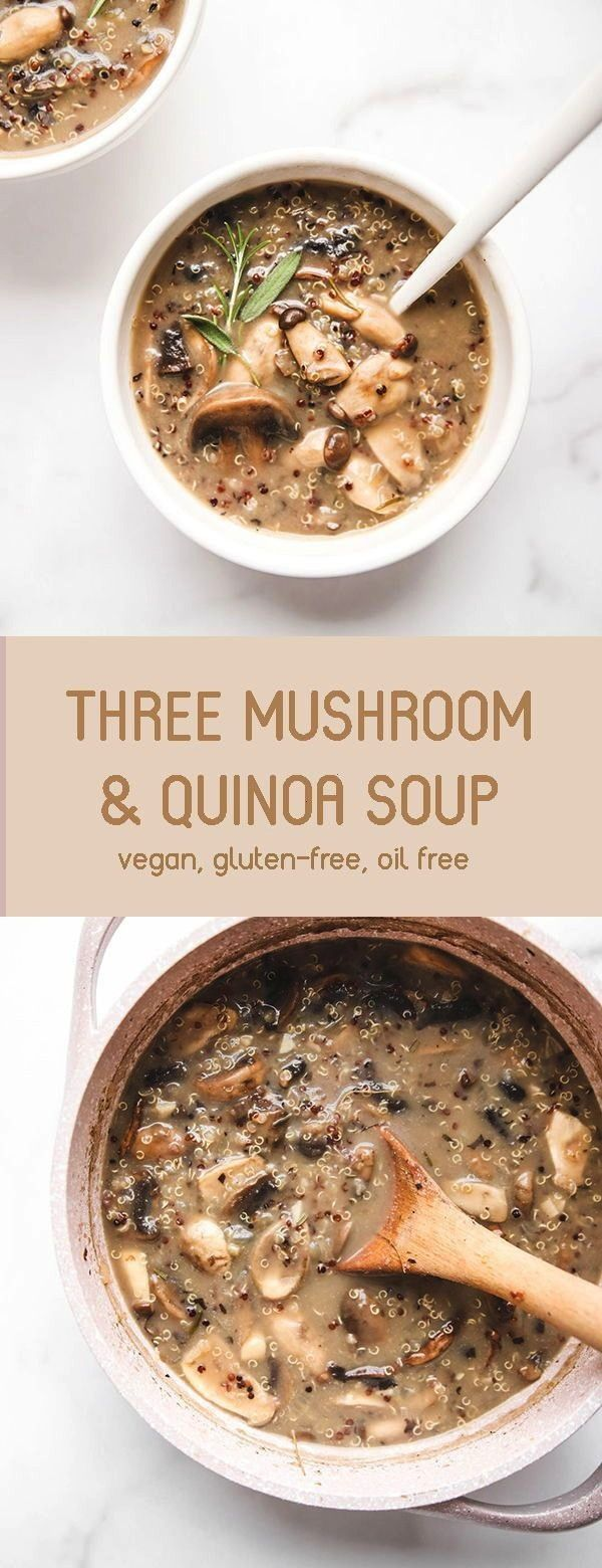 hearty, high protein Wild Mushroom & Quinoa Soup. This soup is packed with umami flavour and takes