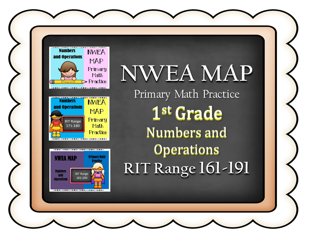 Nwea Map Primary Math Practice Bundle Numbers And