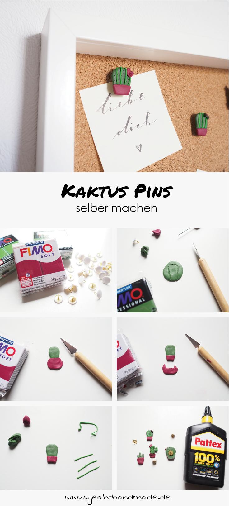 DIY Kaktus Pins für Korkwände   Yeah Handmade   Basteln und ...
