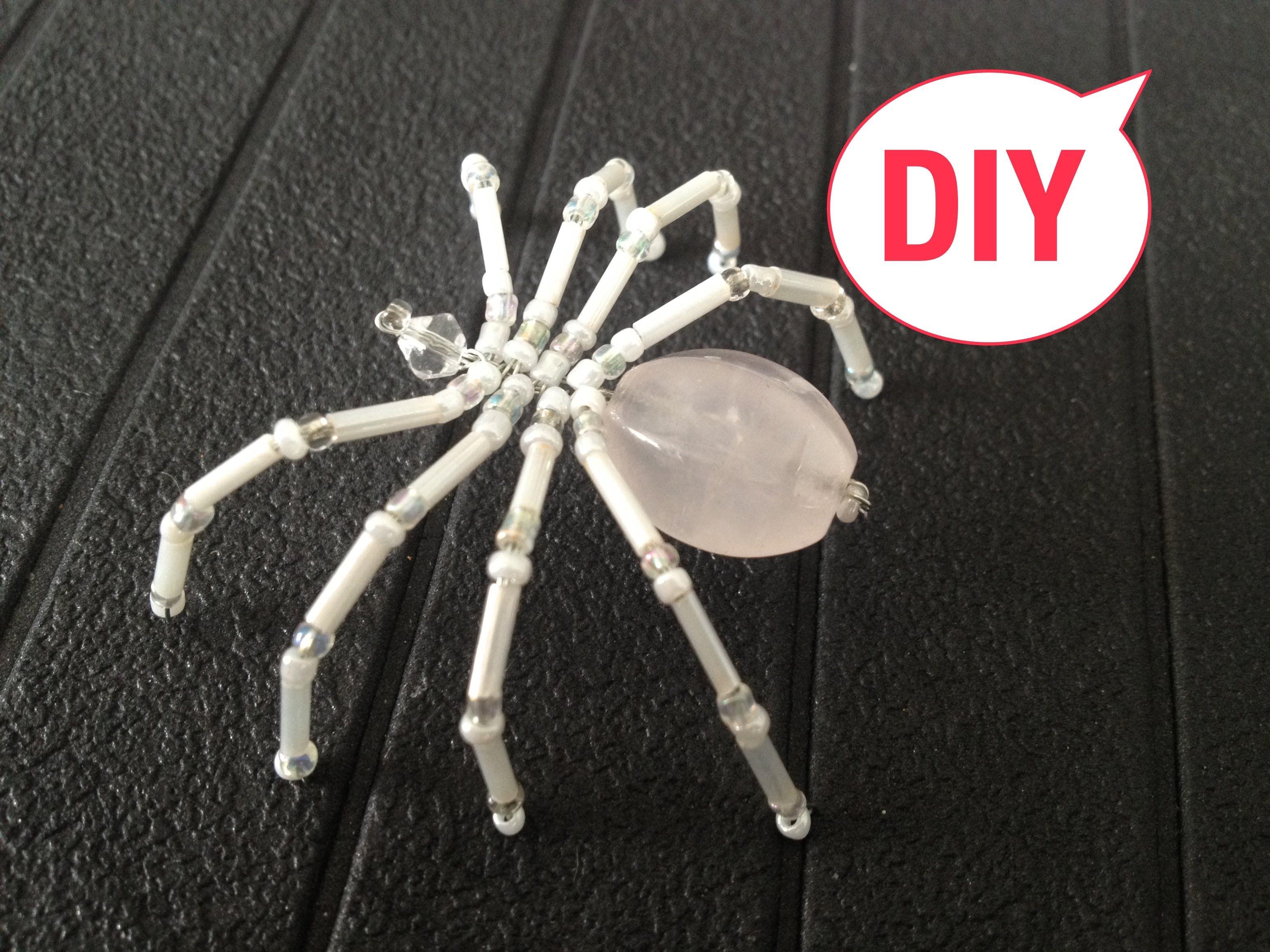 spinne aus glasperlen brosche spider out of beads. Black Bedroom Furniture Sets. Home Design Ideas