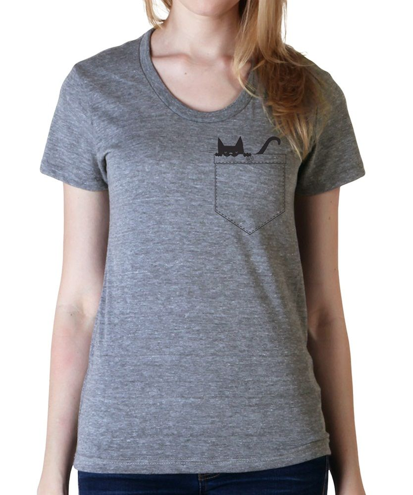 Shirt design womens - Womens Cat Pocket T Shirt Catshirt See More Cat T Shirt Designs