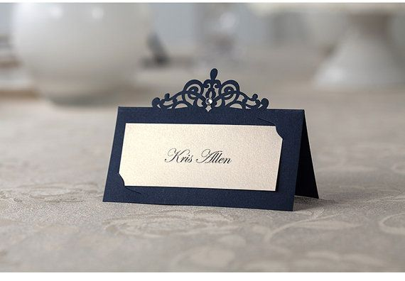 50pcs Royal Blue Place Cards Print Your Guest Names Royal Blue Meeting Name Cards Ship Worldwide 3 5 Wedding Name Cards Wedding Place Cards Wedding Cards