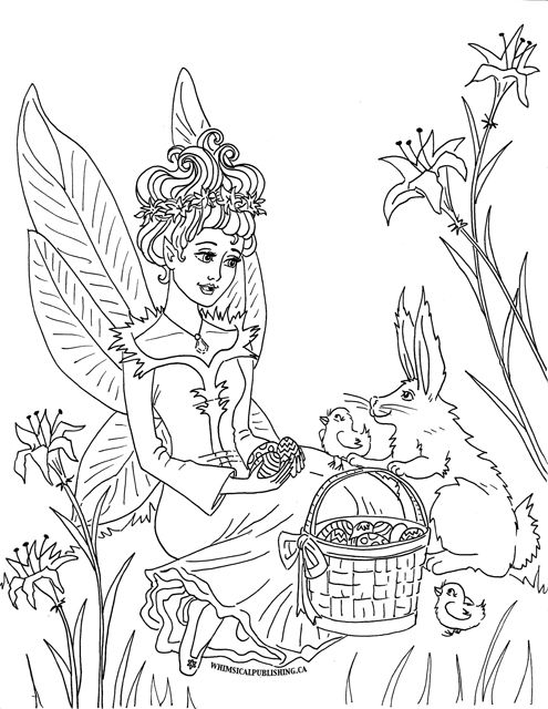 Easter Coloring Page Sm Lineart Fairyies Pinterest