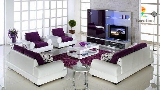 غرف جلوس 2016 ديكورات جذ ابة لغرف معيشه مودرن لوكشين ديزين نت Purple Living Room Furniture Purple Living Room Living Room Sets