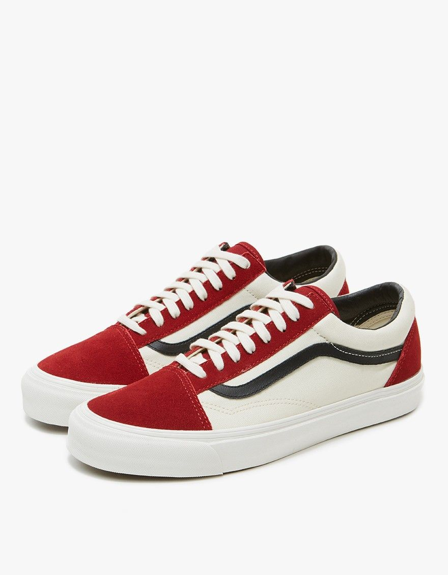 9c502a480ca Vault by Vans   OG Old Skool LX in Red Dahlia