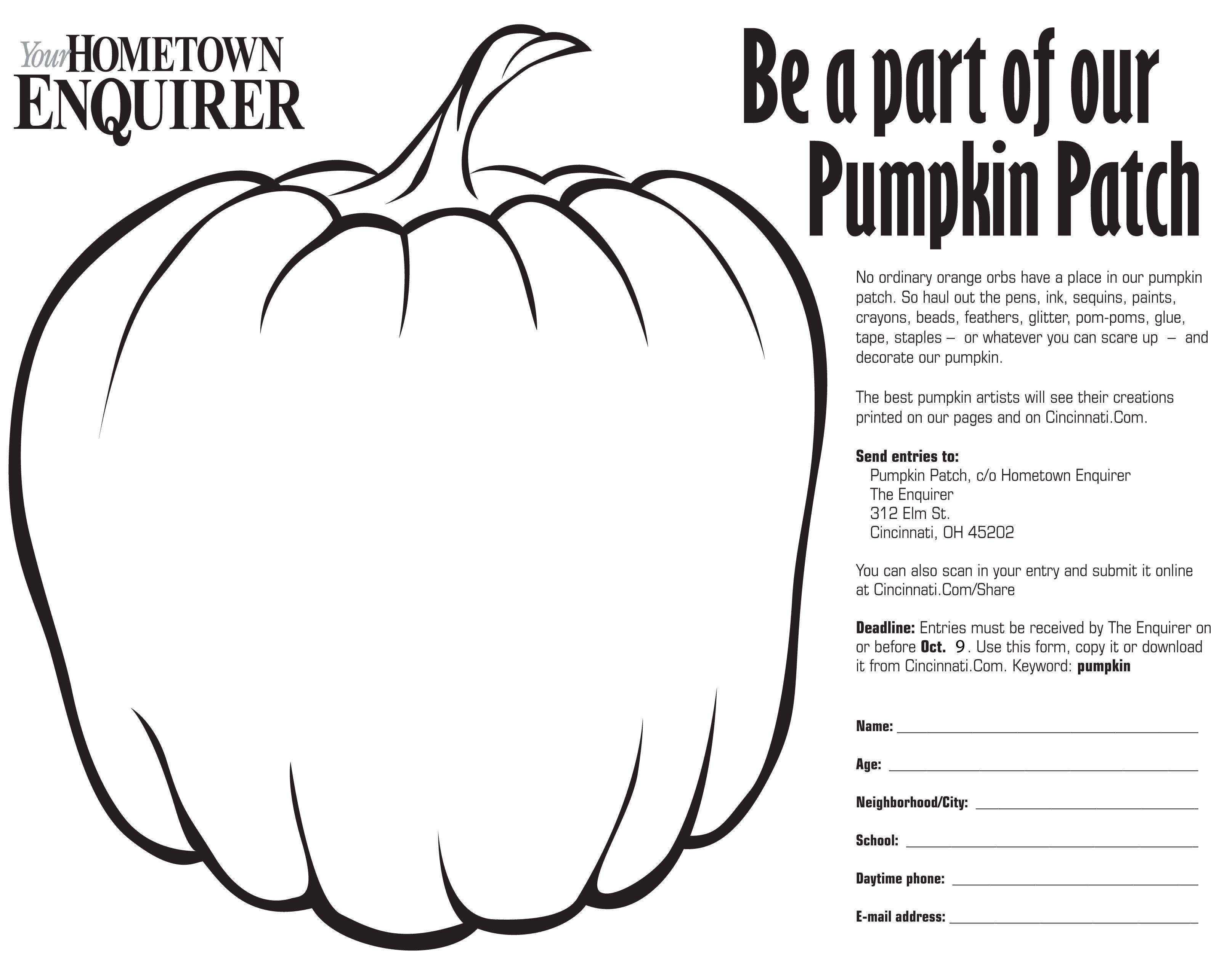 pumpkin coloring contest - Google Search | Pumpkin Contest ...