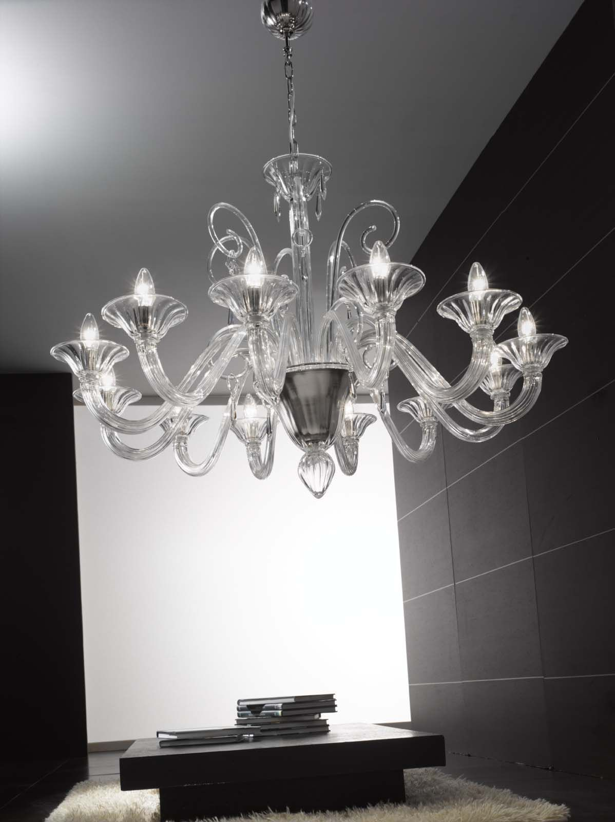 Verdi Handmade Clear Glass Venetian Chandelier From 912 95
