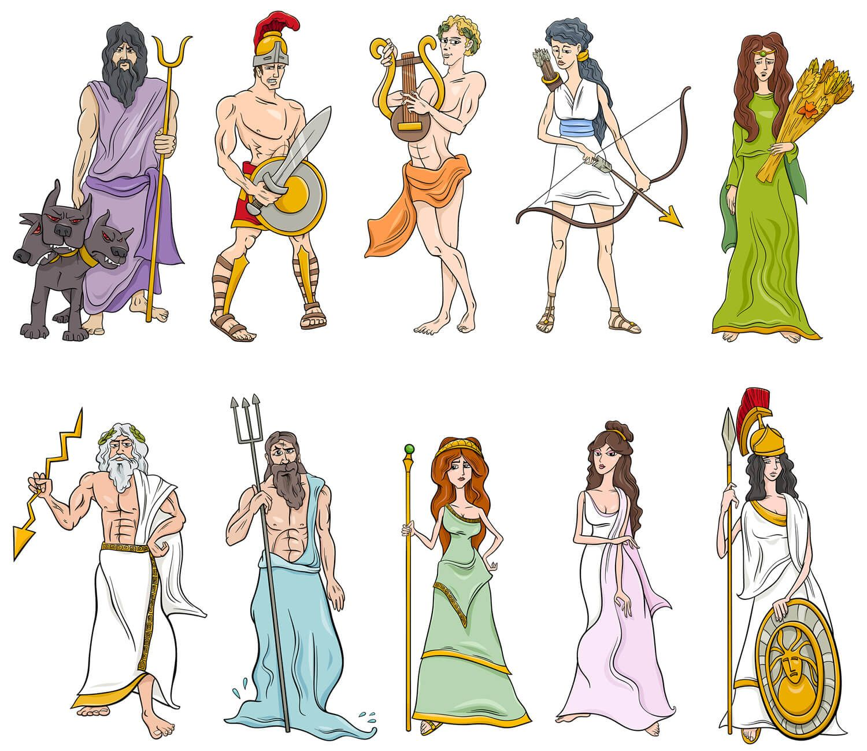 Картинки древнегреческих богов с именами