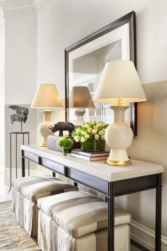 Sofa Table With Stools Underneath Home Sweet Home Entryway