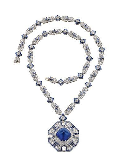 Sautoir, 1969 – Platinum with sapphires and diamonds