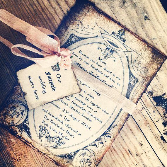 Invitations fairytale wedding by Shabbyscrap by ShabbyScrap, $7.00