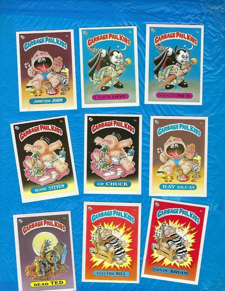 1985 1986 Garbage Pail Kids Orignial Series 1 Uk Mini 82 Card Set Sharp Cards Garbage Pail Kids Card Set