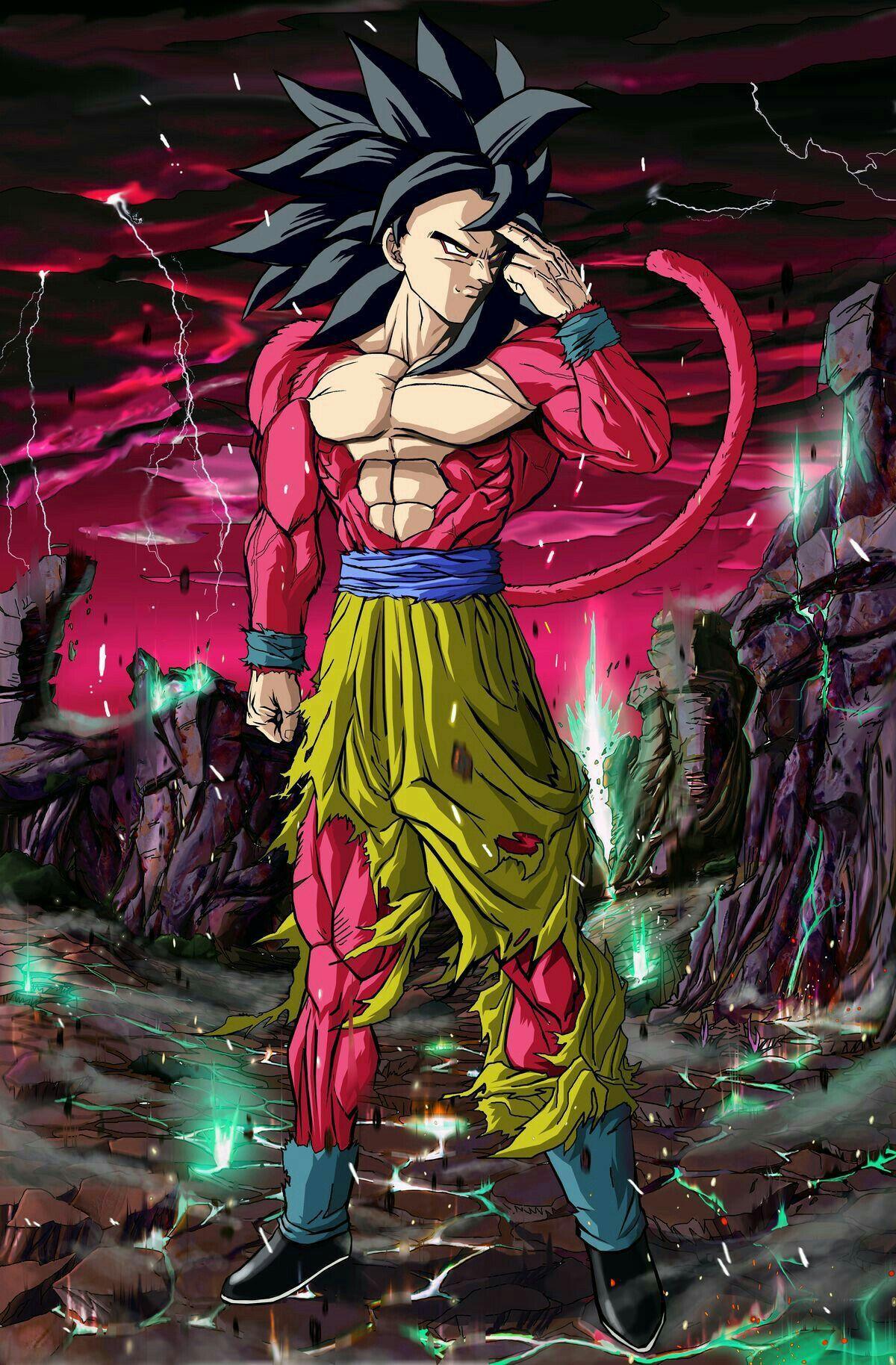 Goku Ss4 Dragonball Dragon Ball Goku Dragon Ball Gt Anime Dragon Ball