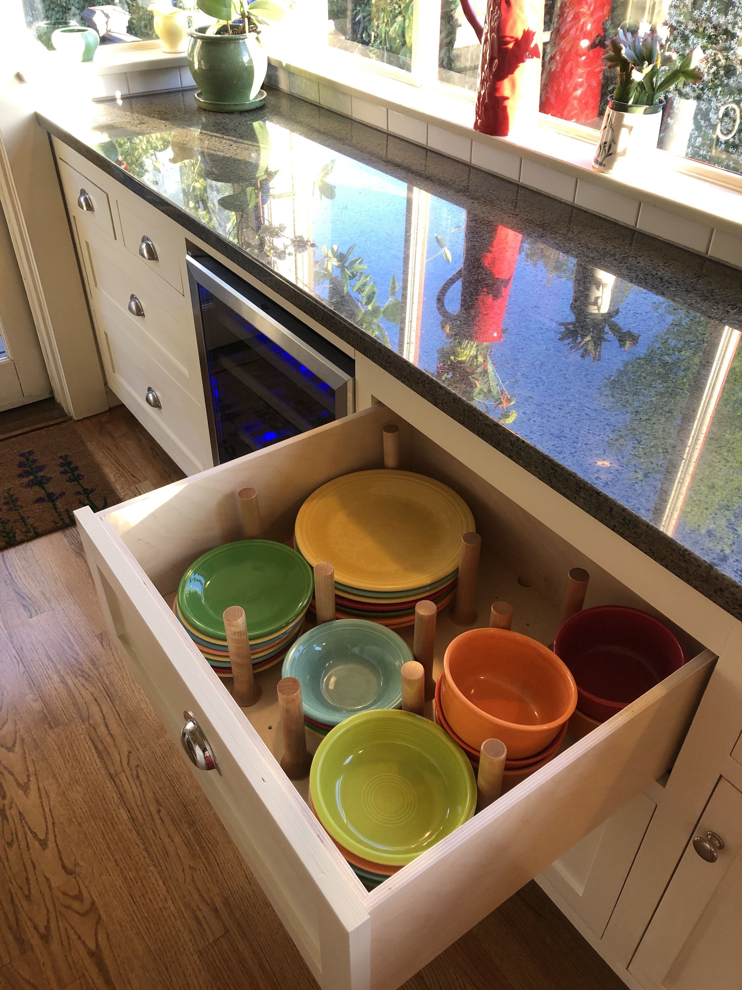 new peg and board storage dish drawer pegandboard kitchenorganization board storage kitchen on kitchen organization dishes id=51196