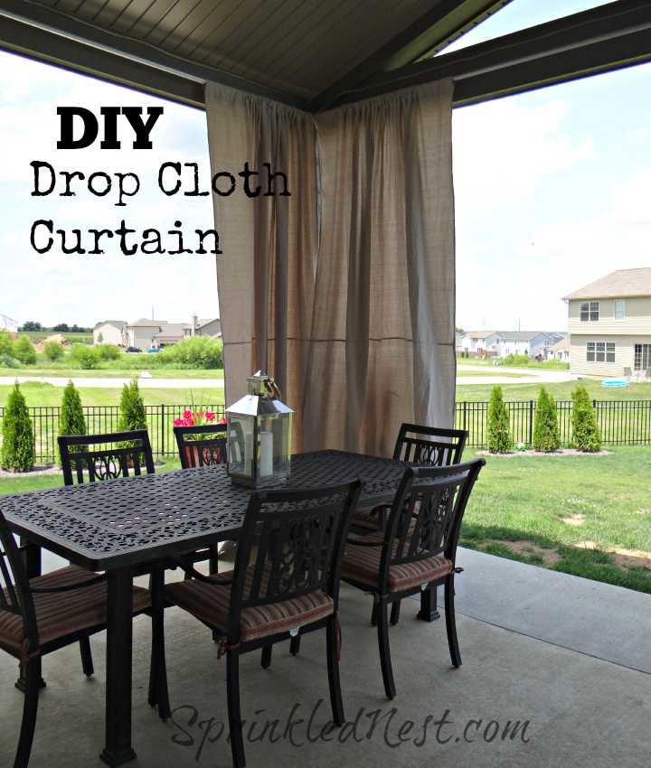 Drop Cloth Outdoor Curtains Outdoor Curtains Diy Curtains Diy Curtain Rods