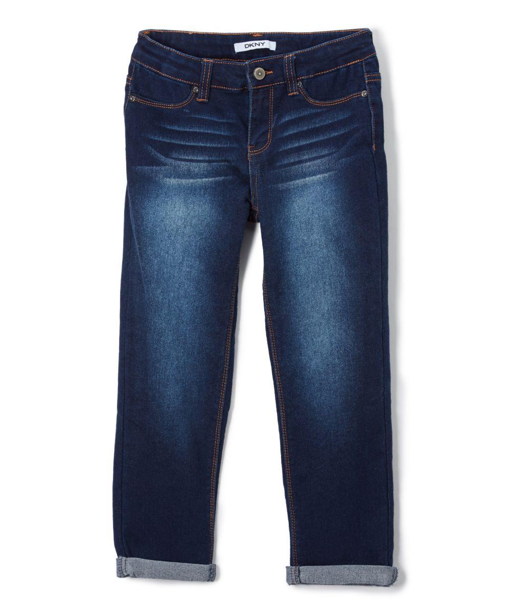 Dark Wash Stretch Capri Jeans - Toddler & Girls | Toddlers, Darks ...