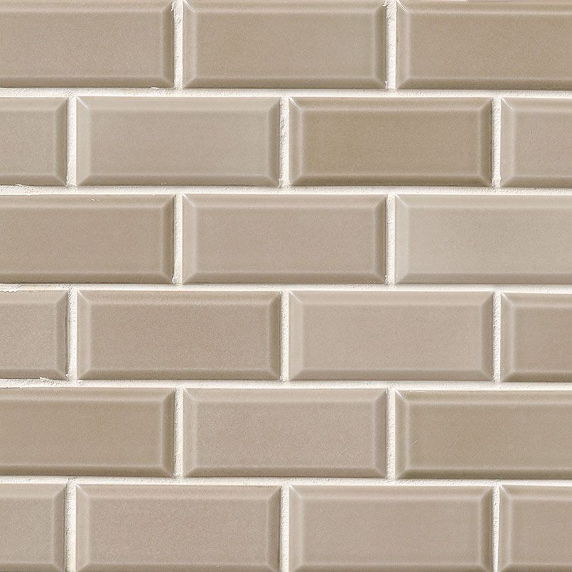 Taupe Subway Tile Is A Ceramic Tile With Gentle Beveling Around The Edges The Latte Colored Tile Comes In Beveled Subway Tile Best Bathroom Colors Subway Tile