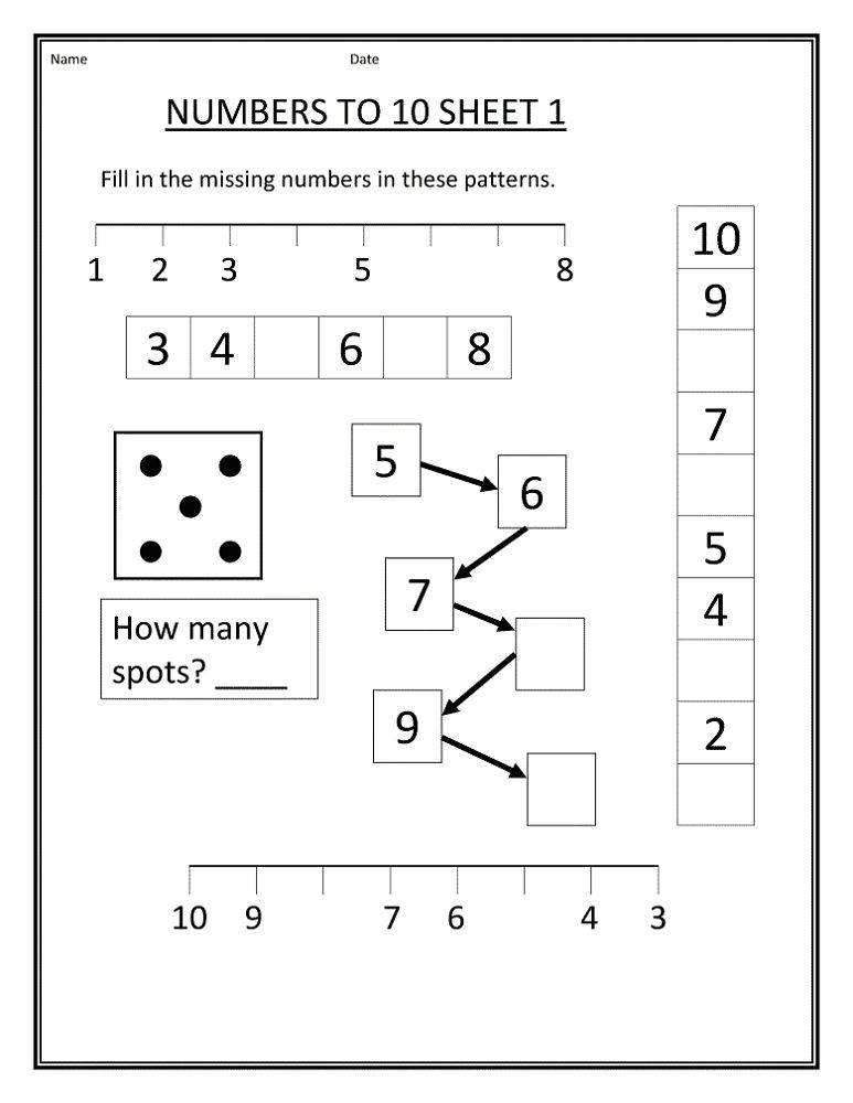 free number worksheets 1 10 k5 worksheets kids worksheets printable. Black Bedroom Furniture Sets. Home Design Ideas