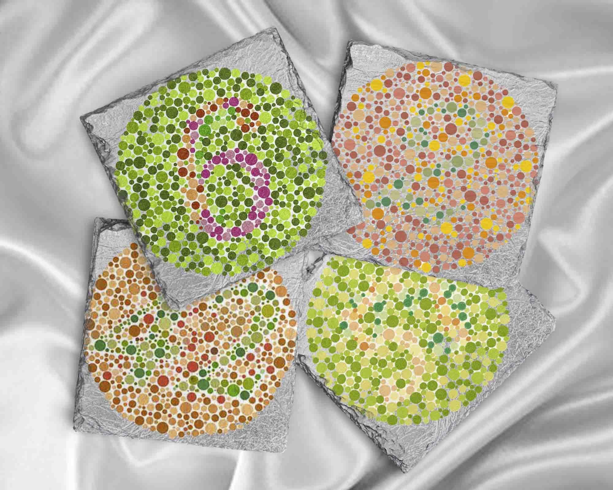 Ophthalmologist Optician Gift Idea, Color Blind Testing Coaster Set ...