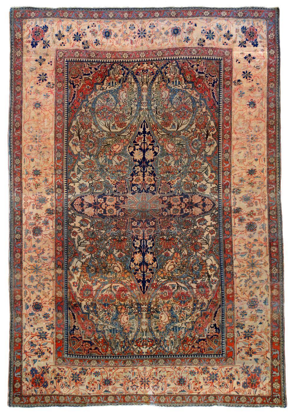 Tappeto Kashan Mohtashem Xix Secolo Persianrugs Rug Texture