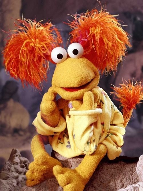 Look at us, here we are, right where we belong — Red Fraggle. What a peach.