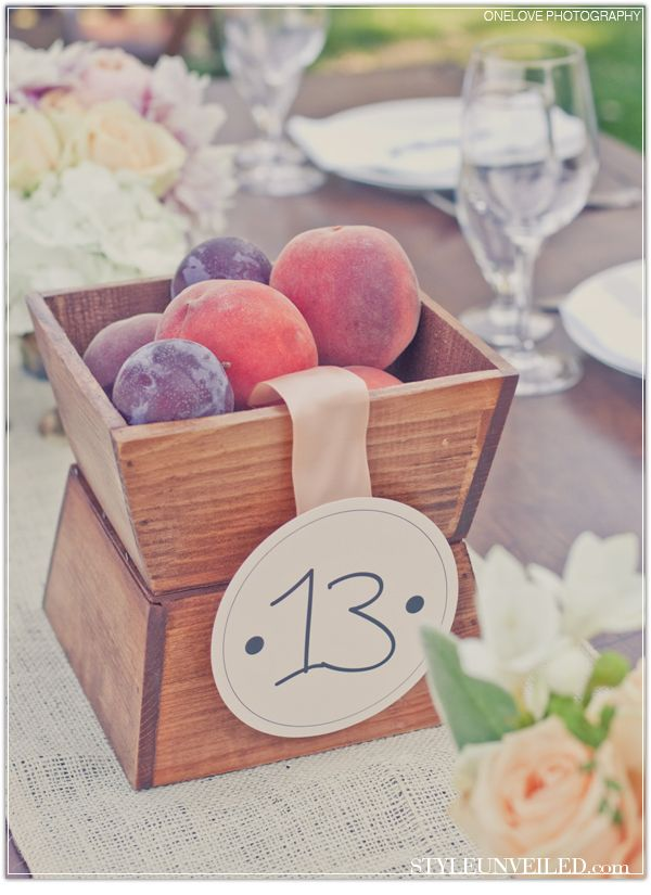 Love table numbers that are part of the centerpieces!