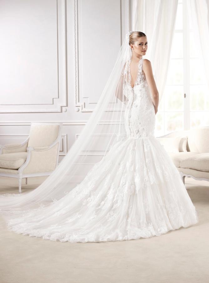 """Espalda del #vestido de #novia de la colección """"La Sposa 2015"""" con ..."""