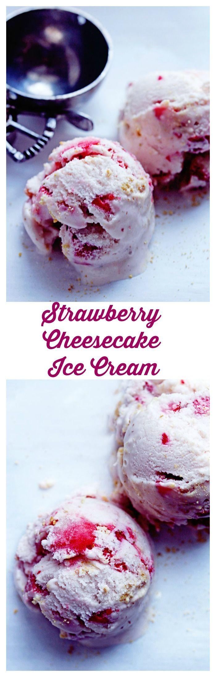 strawberry cheesecake ice cream grandbaby cakes ice cream recipes strawberry cheesecake ice on hebbar s kitchen recipes videos ice cream id=17324