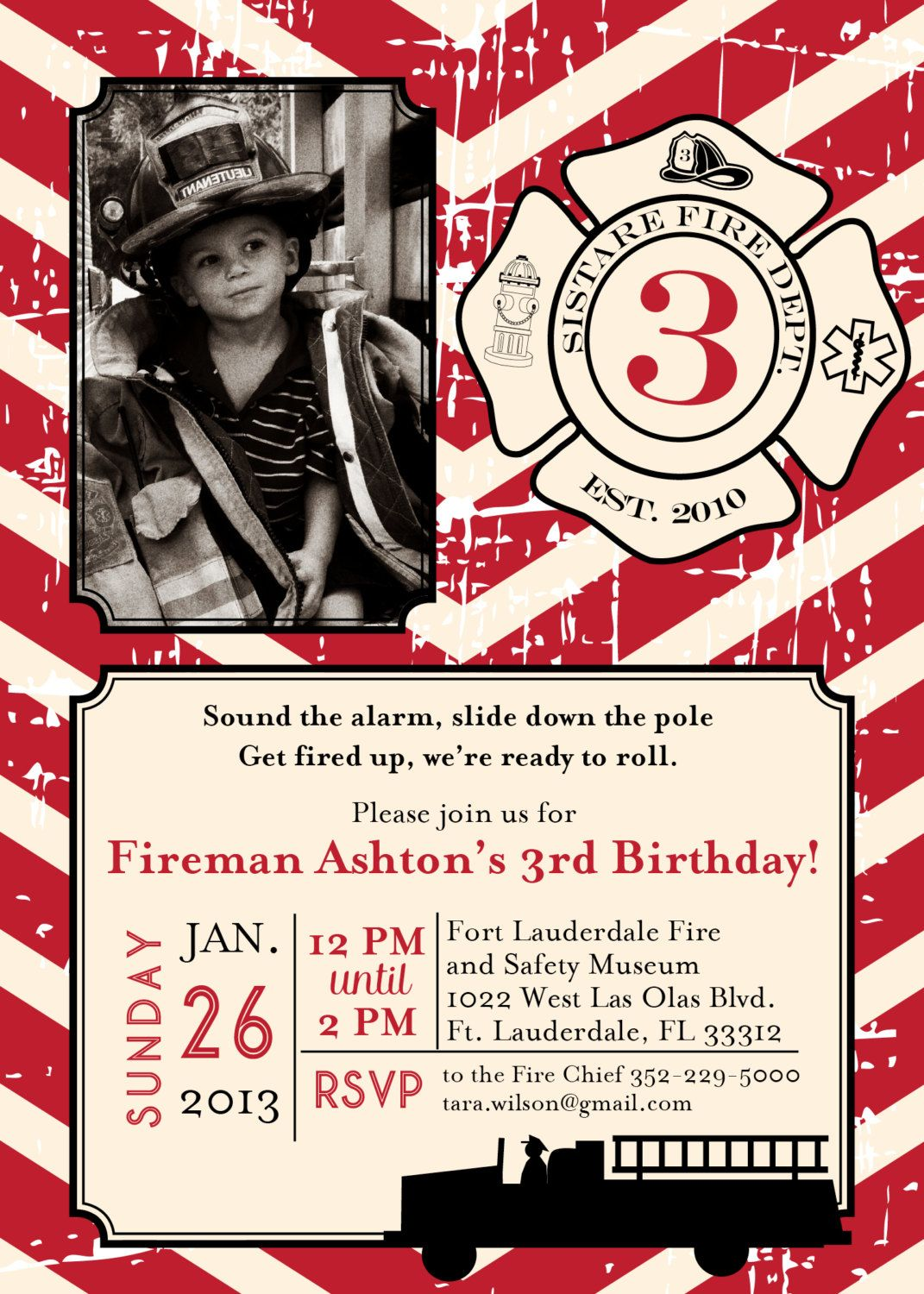 Diy Printable Vintage Fireman Birthday By Lovelylittleparty 15 00