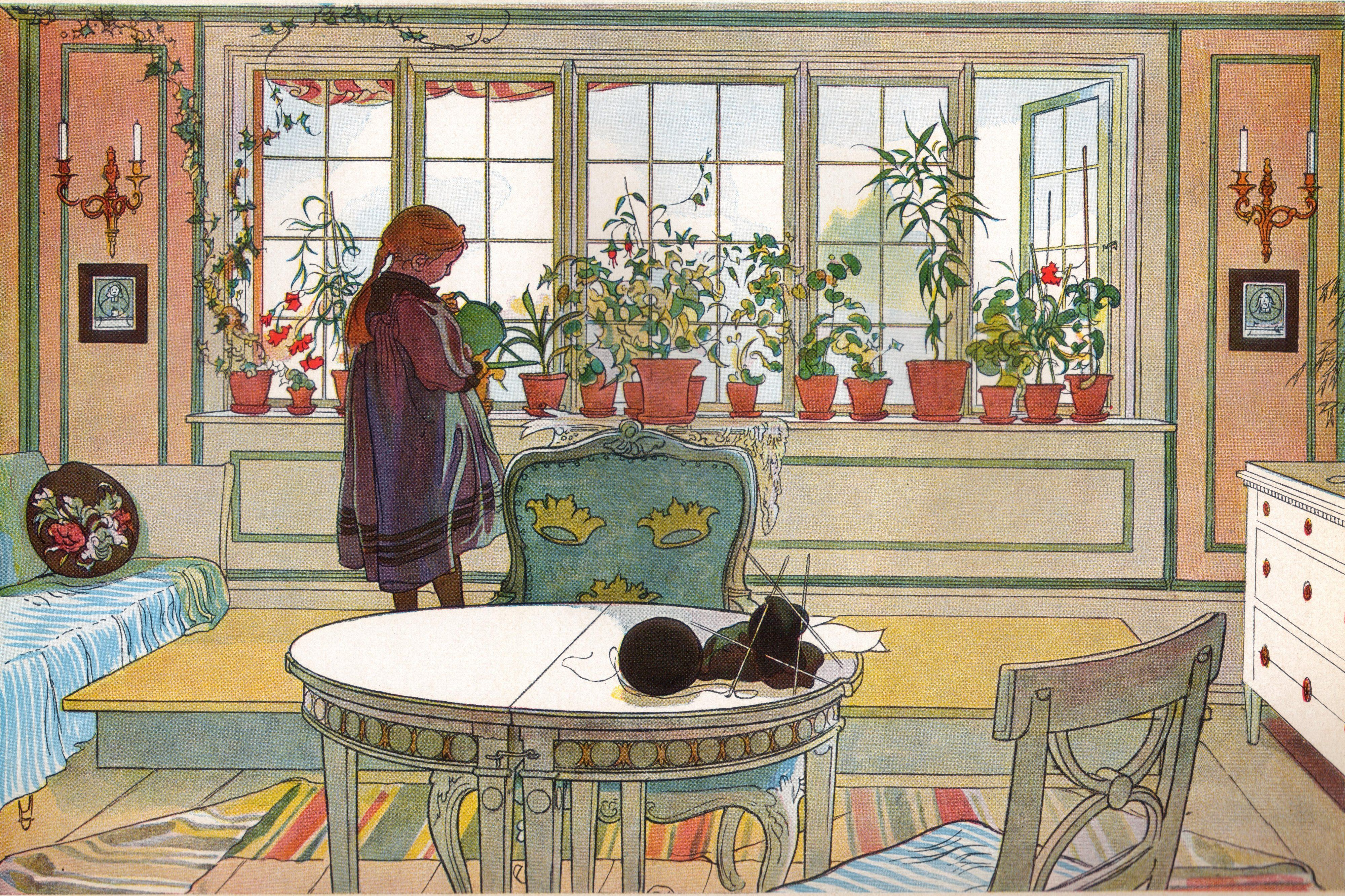 Famous Artist Carl Larsson And His Wife Karin Designed Their Home With Strong Wild Colors
