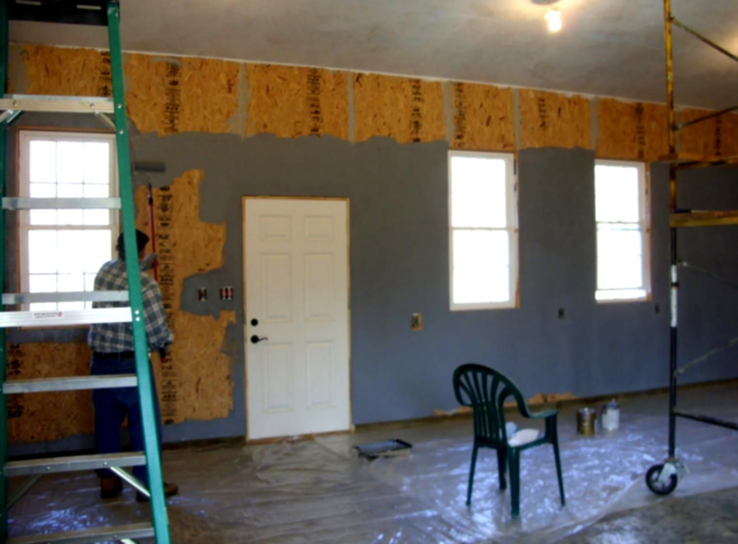 Pin By Mike Trover On New Building Painted Osb Osb Wooden Wall Design