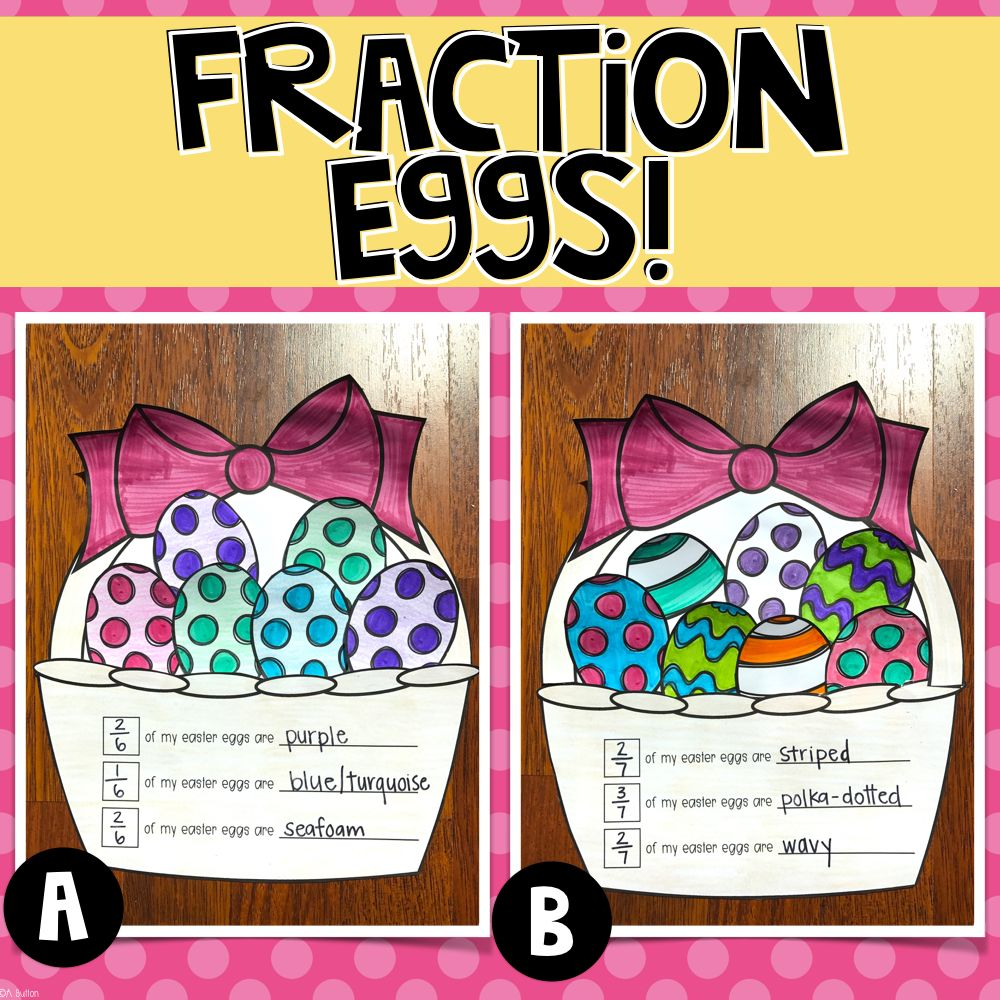 Easter Egg Fractions Create A Basket Full Of Easter Eggs And Write About The Colors Or Patterns Of Eggs In The Basket A Easter Math Math Crafts Math Projects [ 1000 x 1000 Pixel ]