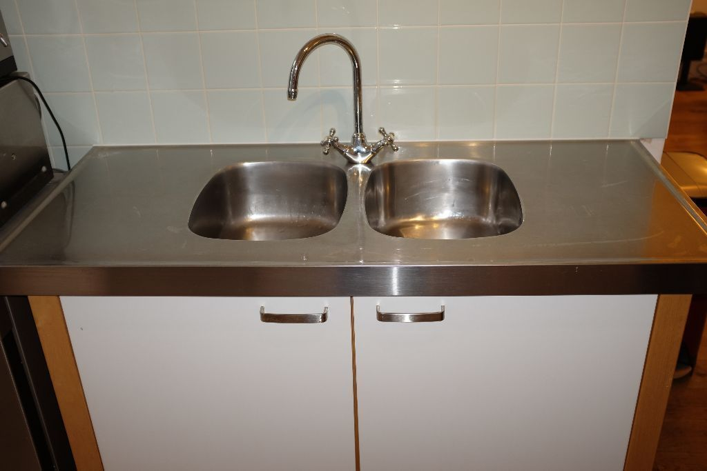 Charmant Ikea Varde Freestanding Kitchen Sink Unit With Double Stainless Steel Sink  On Gumtree. This Is