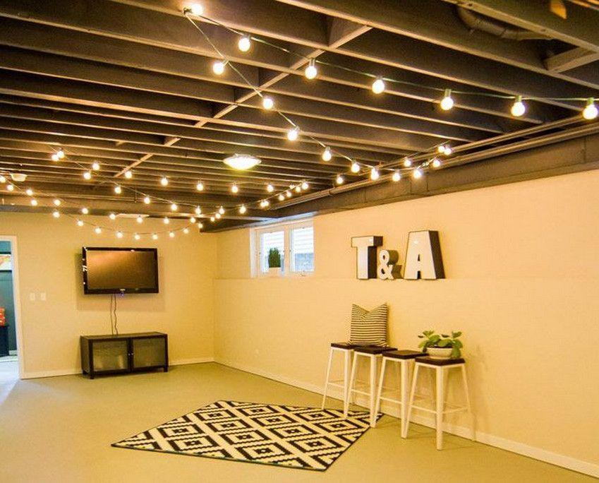 Industrial Basement Ceiling Ideas Basement Makeover Basement
