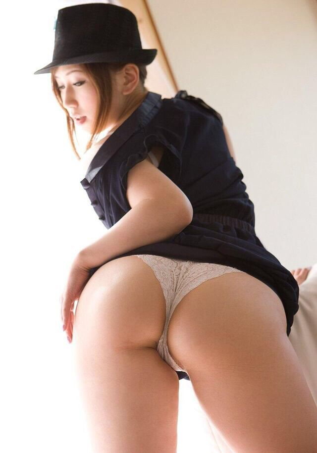 Sexy asian girl butt