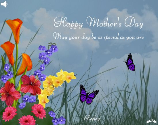 Flowers And Butterflies Mother Day Wishes Mothers Day Mothers Day Cards