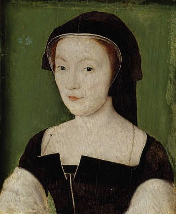 Mary of Guise, 1515 - 1560. Queen of James V Corneille de Lyon's appealing portrait of the recently-widowed Mary of Guise (1515-60) was most likely painted to promote an advantageous second marriage. Mary was a member of a powerful French aristocratic family, and her portrait would have been painted in the autumn of 1537 when she was in Lyon . By the end of the year she had been persuaded by the French king to marry James V of Scotland, to help maintain the 'Auld Alliance'